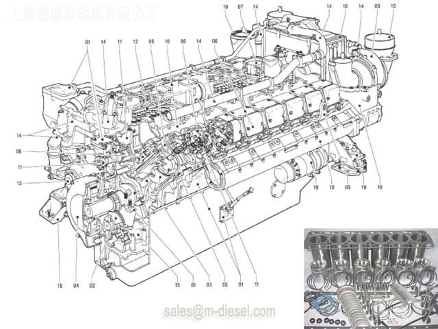 X87305500002 CYLINDER HEAD COVER MTU